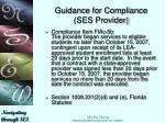 guidance for compliance ses provider3