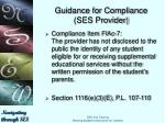 guidance for compliance ses provider5