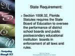 state requirement