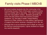 family visits phase i mbchb