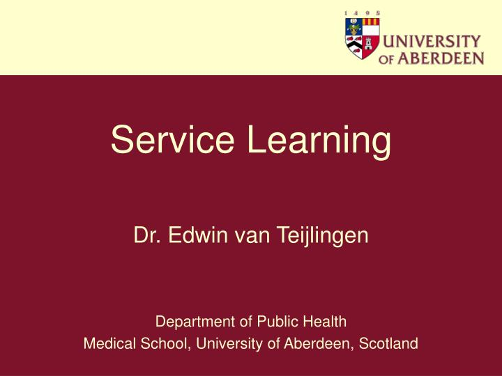 service learning n.