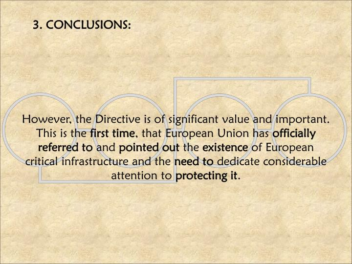 3. CONCLUSIONS:
