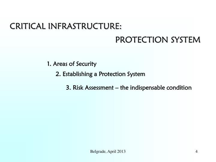 CRITICAL INFRASTRUCTURE: