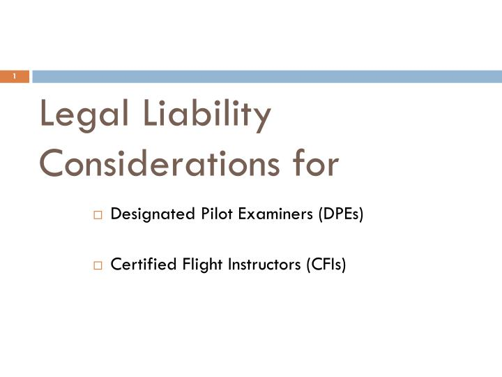 legal liability considerations for n.