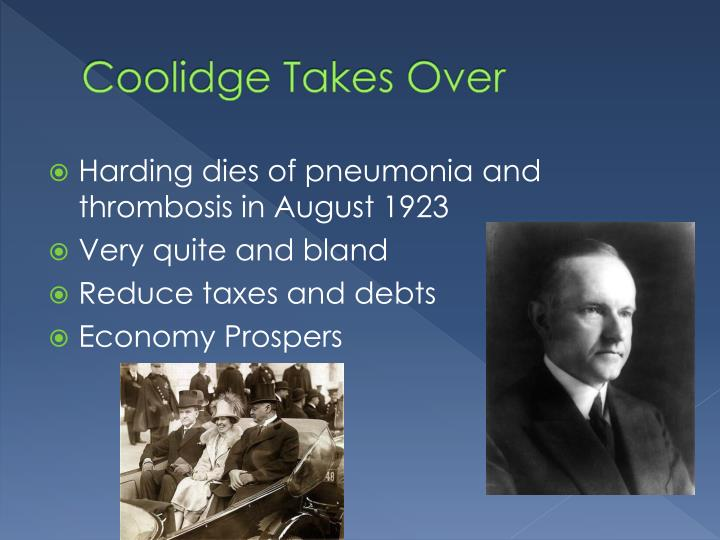 Coolidge Takes Over
