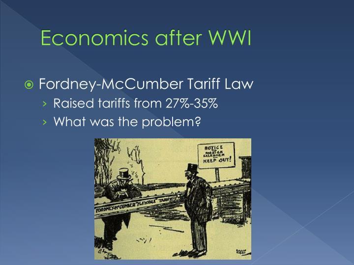 Economics after WWI