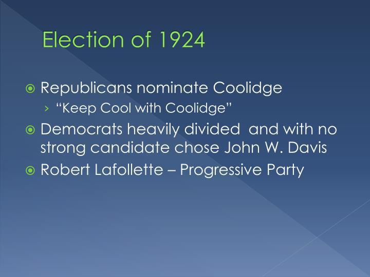 Election of 1924