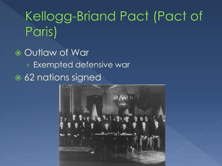Kellogg-Briand Pact (Pact of Paris)