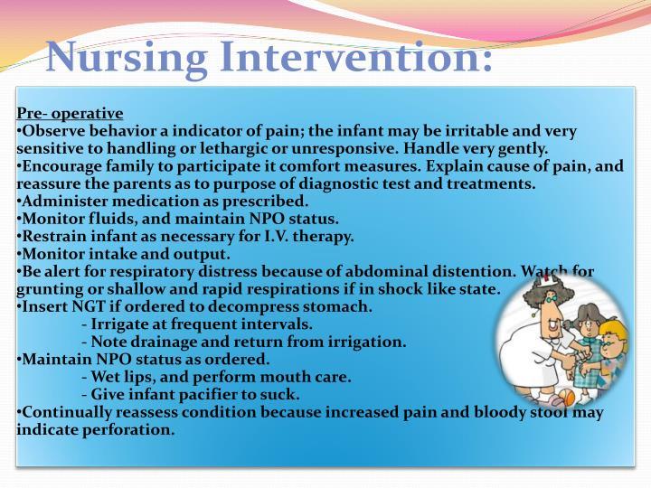 Nursing Intervention: