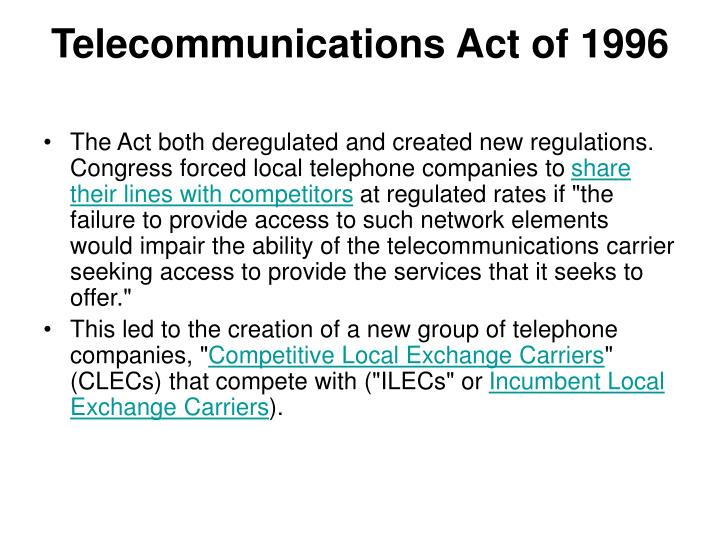 an essay on propaganda and the telecommunications act of 1996