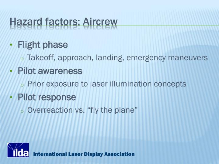 Hazard factors: Aircrew