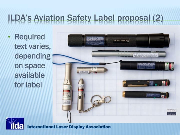 ILDA's Aviation Safety Label proposal (2)