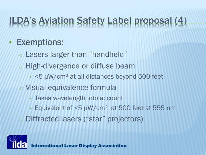 ILDA's Aviation Safety Label proposal (4)