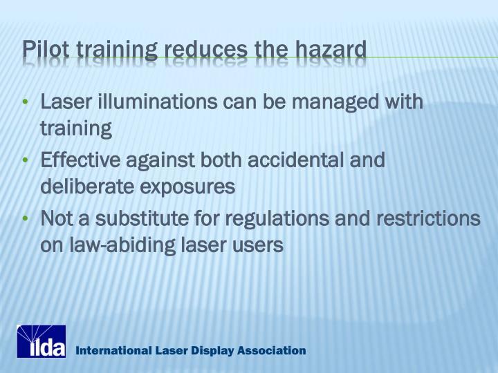 Pilot training reduces the hazard