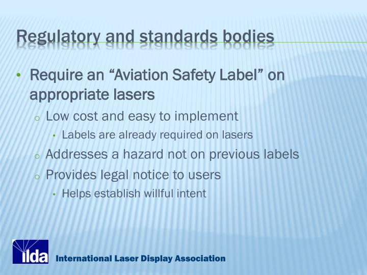 Regulatory and standards bodies