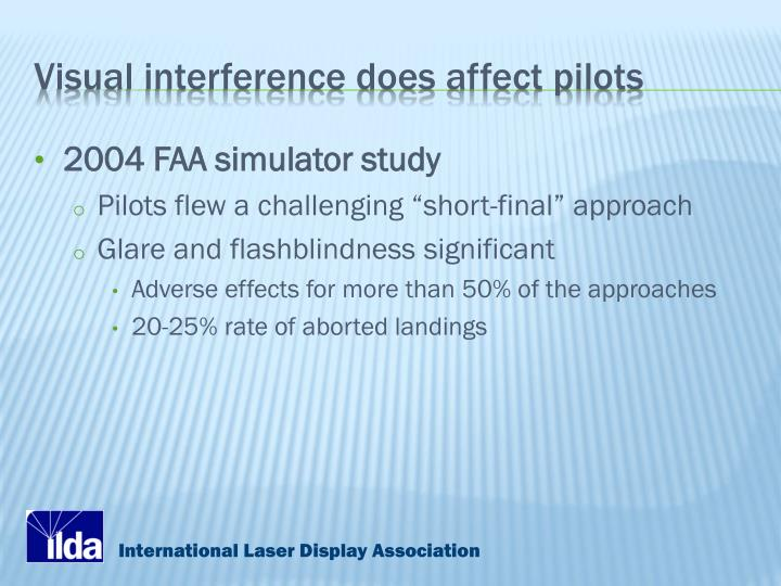 Visual interference does affect pilots