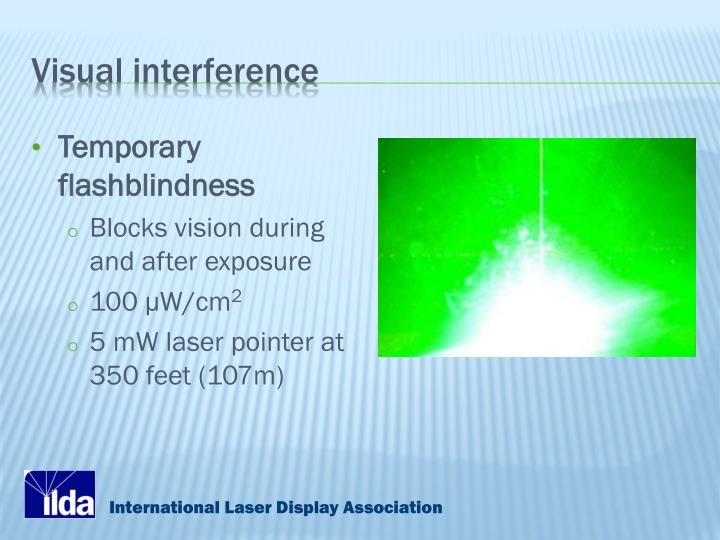 Visual interference