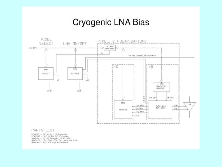 Cryogenic LNA Bias