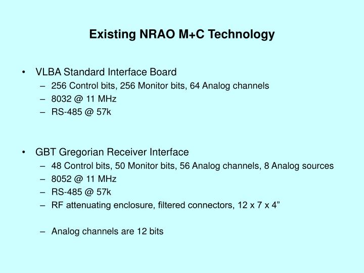 Existing nrao m c technology