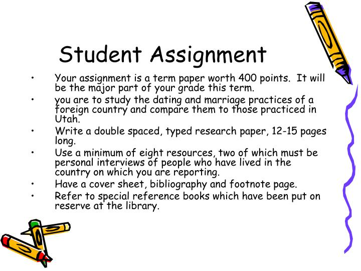 country research paper assignment Minimum requirements feel free to include other information if necessary your paper should have an introduction which includes: the name of the country.
