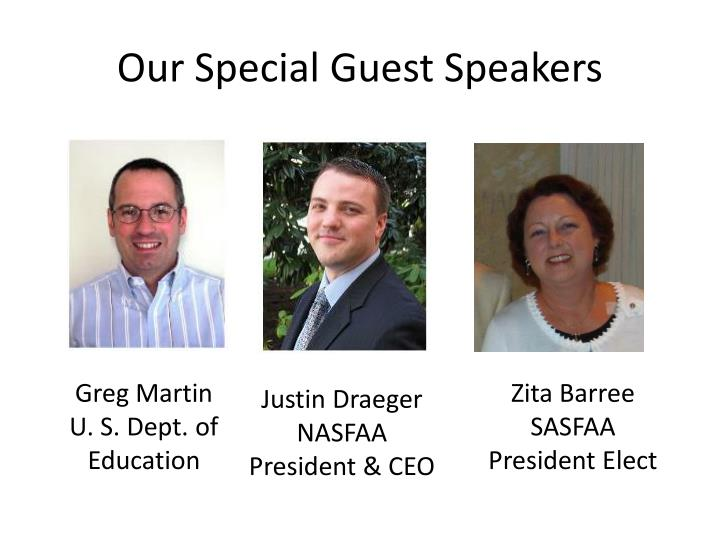 Our Special Guest Speakers