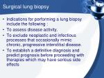 surgical lung biopsy