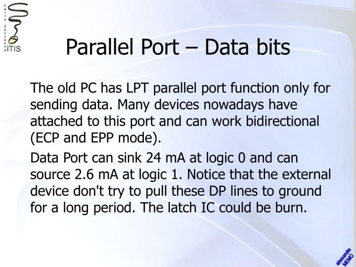 Parallel Port – Data bits