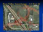 fern valley interchange i 5 exit 24