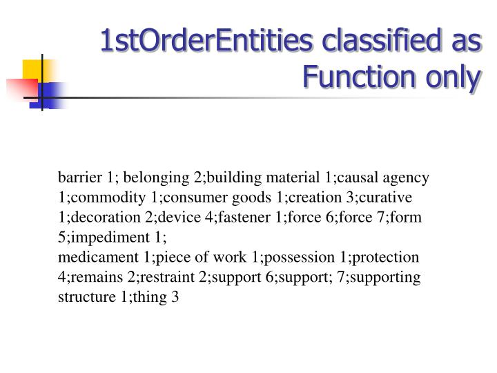 1stOrderEntities classified as Function only