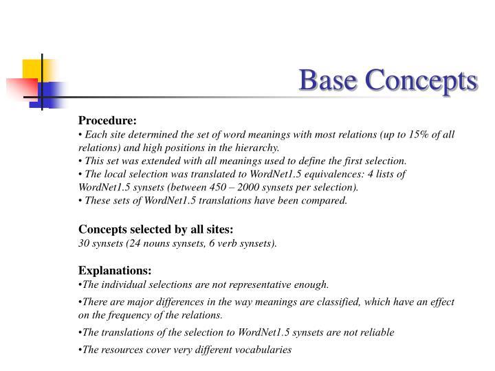 Base Concepts