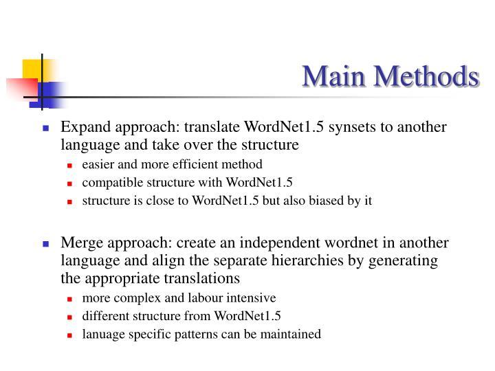 Main Methods