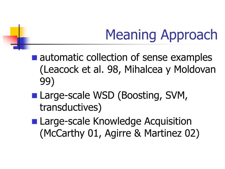 Meaning Approach