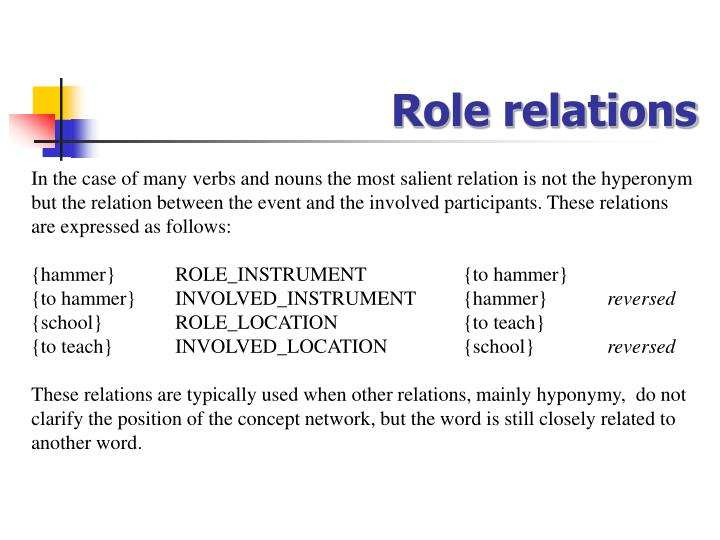 Role relations