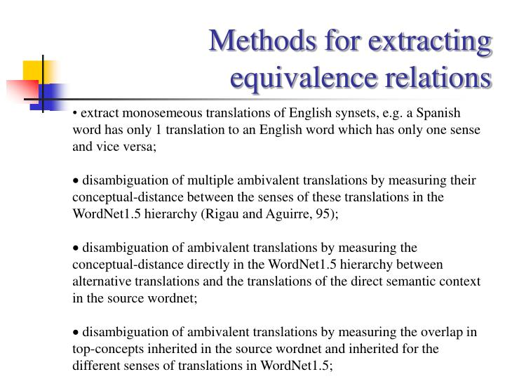 Methods for extracting
