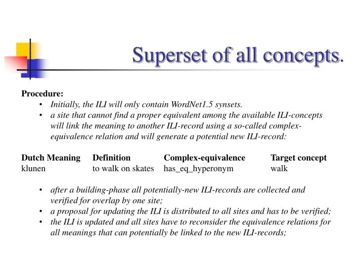 Superset of all concepts
