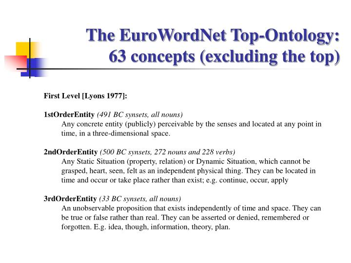 The EuroWordNet Top-Ontology: