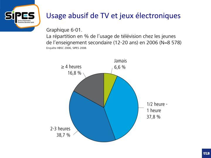 Usage abusif de tv et jeux lectroniques