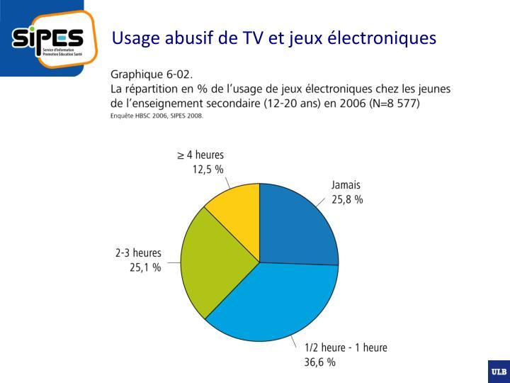 Usage abusif de tv et jeux lectroniques1
