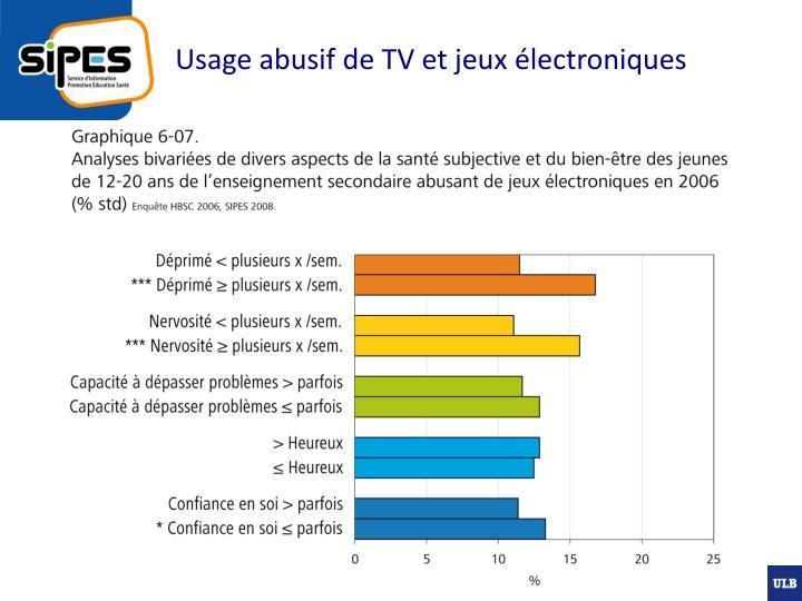 Usage abusif de TV et jeux électroniques