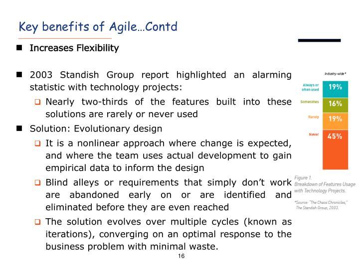 Key benefits of Agile…Contd