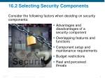 16 2 selecting security components