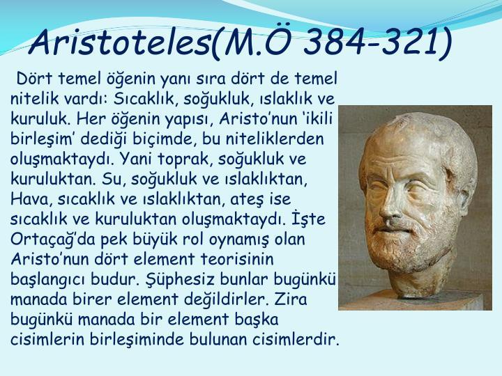 Aristoteles(M.Ö 384-321)