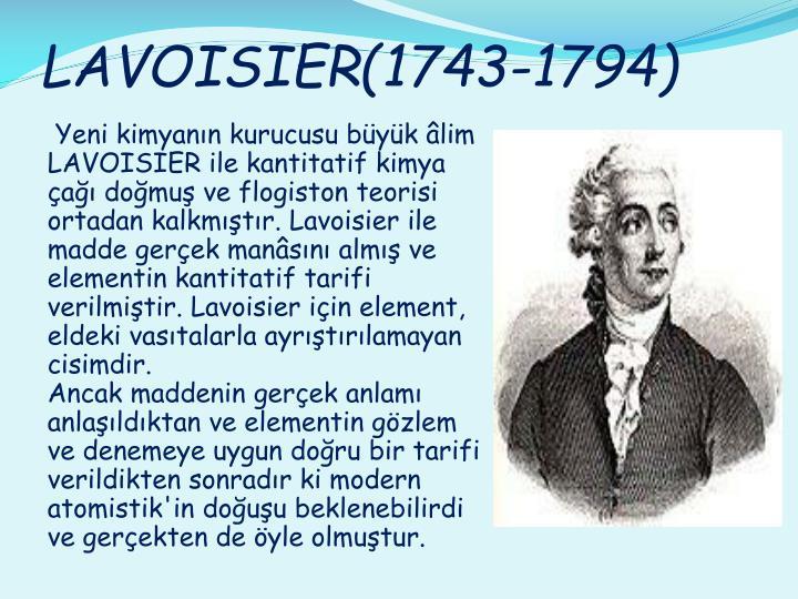 LAVOISIER(1743-1794)