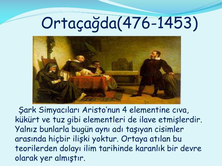Ortaçağda(476-1453)