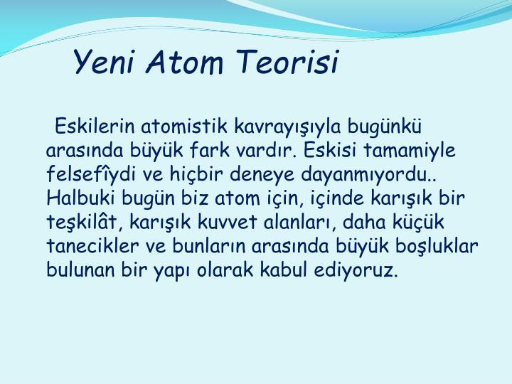 Yeni Atom Teorisi