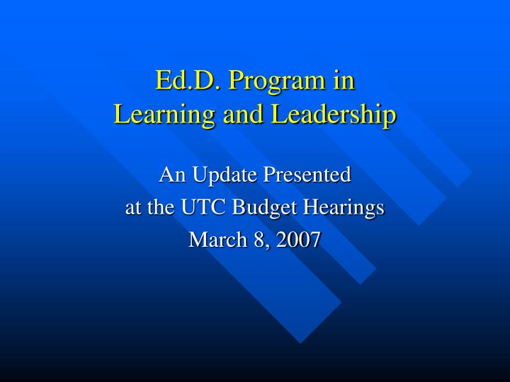 ed d program in learning and leadership n.