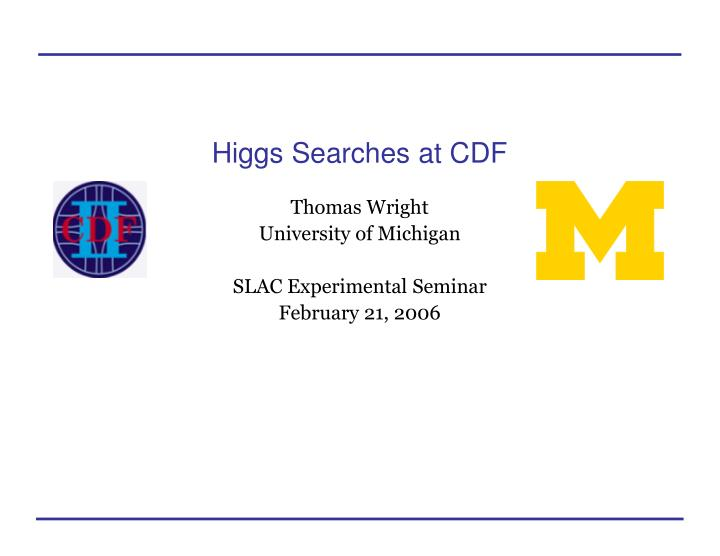 Higgs searches at cdf