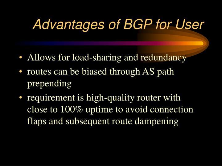 Advantages of BGP for User