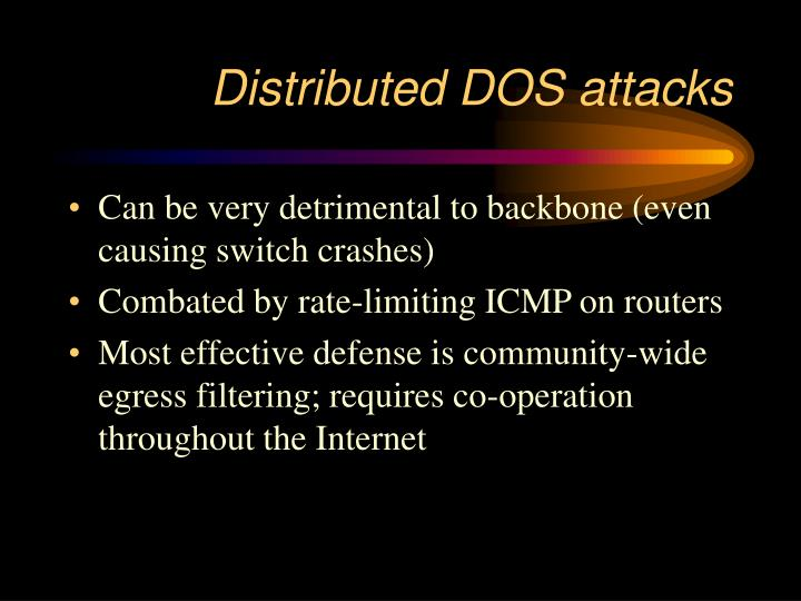 Distributed DOS attacks
