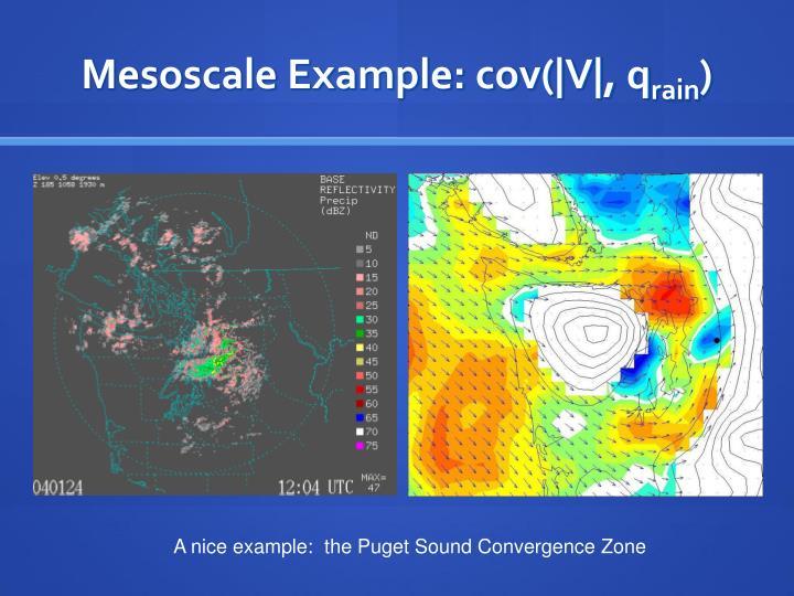Mesoscale Example: cov(|V|, q